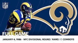 Download Dickerson's 248-Yard Playoff Record! | Rams vs. Cowboys 1985 Divisional Round | NFL Full Game Video