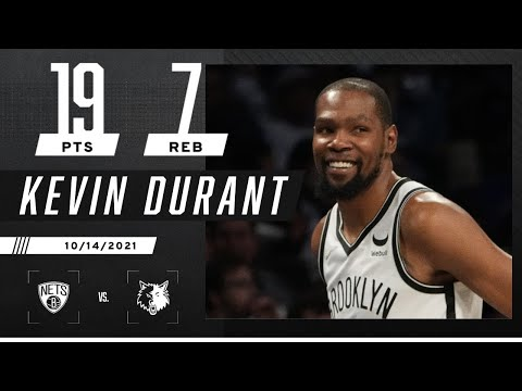 Kevin Durant puts up 19 PTS against the Timberwolves