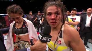 Download The Ultimate Fighter Finale: Joanna Jedrzejczyk and Claudia Gadelha Octagon Interview Video