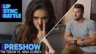 Download Tim Tebow vs. Nina Dobrev (Preshow)   Lip Sync Battle Video