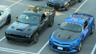Download Who's the fastest ? Modern muscle cars drag race. Video