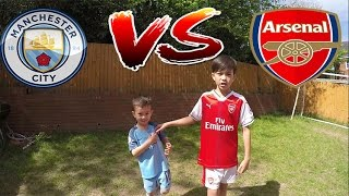 Download GARDEN FOOTBALL CHALLENGES Man City v Arsenal Video