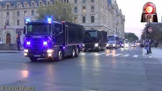 Download Massive Police Convoy Bank Transfer // Convoi Banque de France Video