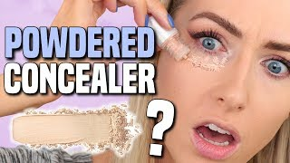 Download TESTING POWDERED CONCEALER?!? || Full Day Wear Test WITHOUT SETTING IT Video