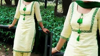 Download Very beautiful and stylish punjabi suit with lace design stitching Video