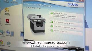 Download Pasos para instalar en red (Lan) impresora multifunción Brother 8880DN. Video