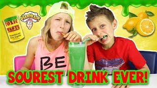 Download Extreme SOUR SMOOTHIE Challenge!!!! Warheads, Toxic Waste (DANGEROUS!!!) Video