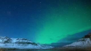 Download Northern Lights looking towards Kirkjufell, Iceland Video