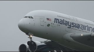 Download Malaysia Airlines Airbus A380 9M-MND Landing and Takeoff [NRT/RJAA] Video