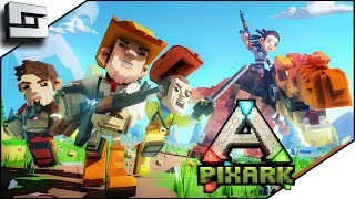 Download PIXARK! Ark Meets Minecraft! Pooping Evolved Server! Starter House and Taming! Video