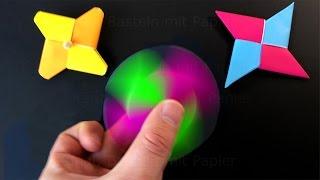 Download Fidget Spinner selber bauen: Origami Fidget Spinner basteln mit Papier ohne Kugellager. deutsch. DIY Video