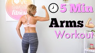 Download 5 Minute Arms Workout Video