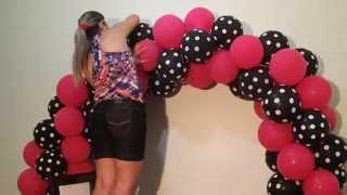 Download Arco de balões com 2 cores - Balloon arch with two colors Video