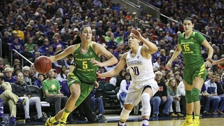 Download Highlights: Oregon upsets Washington in the Pac-12 Women's Basketball Tournament quarterfinals Video