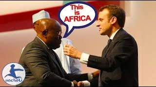 Download Ghanaian President Embarrass French President With Shocking Speech Video
