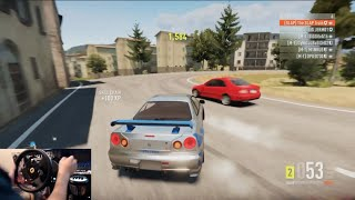 Download Forza Horizon 2 Nissan Skyline R34 Drift Build (For Paul) w/Thrustmaster Wheel Cam Video