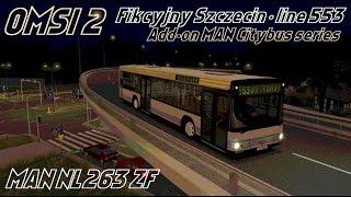 Download OMSI 2 • Fikcyjny Szczecin (line 553) • MAN Citybus series (NL263 ZF) Video