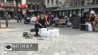 Download Matthew Pretty - The Bucket Boy From Las Vegas Performing At The Leidse Square In Amsterdam 2017! Video