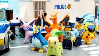 Download 【ポケモン遊び】ポケモン警察 ウルトラポリス出動だ!【アナケナ&カルちゃんのキッズアニメ】pokemon police Video