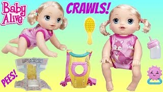 Download Little Girl CRAWLS, Talks, Drinks and Plays & Snackin' Sara Doll Video