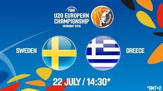 Download LIVE 🔴 - Sweden v Greece - Class. Game 13-14 - FIBA U20 European Championship 2018 Video