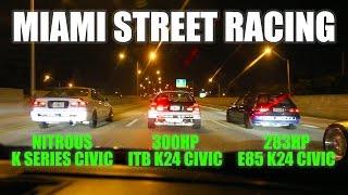 Download Miami street racing - 300hp ITB K24 eg vs 283hp K24 eg vs nitrous Kswap ek Video