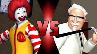 Download DBX - Ronald McDonald VS Colonel Sanders (McDonald's vs KFC)   DEATH BATTLE! Video