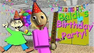 Download CELEBRATE BALDI'S BIRTHDAY WITH A PARTY!! | Baldi's Basics MOD: Baldi's Birthday Video