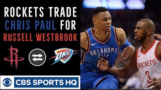 Download Russell Westbrook traded to Houston Rockets for Chris Paul | OKC Thunder rebuilding | CBS Sports HQ Video