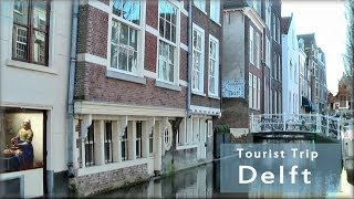 Download Delft in Holland, the tourist city tour Video