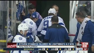 Download Steven Stamkos injured in Lightning's 4 to 3 win over Red Wings Video