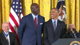 Download President Obama calls Michael Jordan ″the Michael Jordan of greatness″ Video