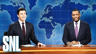 Download Weekend Update: Colin Jost and Michael Che Switch Jokes - SNL Video