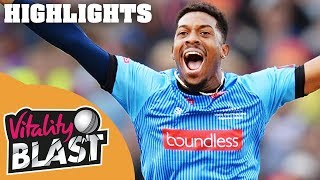 Download Wright Smashes Sussex to Final | Sussex v Somerset | Vitality Blast 2018 - Highlights Video