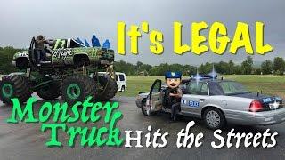 Download Monster Truck Joyride's on public road - Cop got us Video
