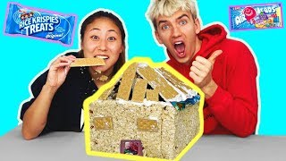 Download DIY EDIBLE BOX FORT!! (YOU CAN EAT 🍫) Video