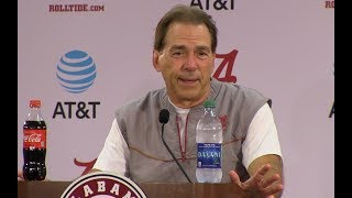 Download Nick Saban Press Conf. Arkansas Week 10/11/17 Video