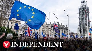 Download Brexit March London: Hundreds of thousands march on Westminster for a Final Say Video