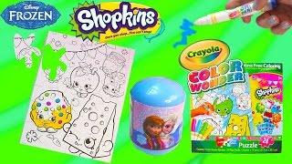 Download Disney Frozen Surprise Blind Bag + Shopkins Crayola Color Wonder Craft Puzzle with Markers Video