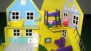Download Peppa Pig House Deluxe Peppa Pig Playhouse Bandai - Juguetes de Peppa Pig Video