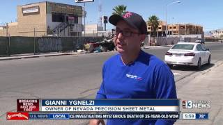 Download Las Vegas business owners fight to get rid of growing homeless encampment Video