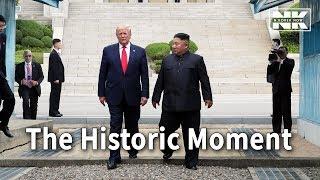 Download Donald Trump crosses into North Korea with Kim Jong-un Video
