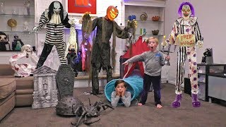Download Scary Halloween Animatronic Obstacle Course Video