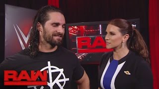 Download Seth Rollins gets brutally honest with Stephanie McMahon: Raw, Sept. 19, 2016 Video