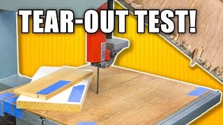Download Bandsaw Tearout Test - Tape Vs. Zero Clearance Insert Video