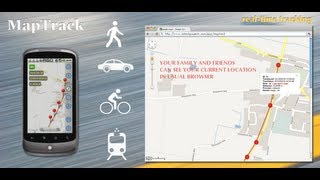 Download MapTrack: real time tracking on Google Maps in a browser using Track Viewer sharing option Video
