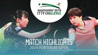 Download Hina Hayata vs Hu Limei | 2019 ITTF Challenge Plus Portugal Open Highlights (1/2) Video