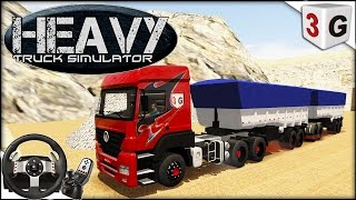Download HEAVY TRUCK SIMULATOR - SUBINDO MINERADORA COM BITREM E NOVA SKIN PARA AXOR... Video