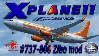 Download X plane 11 #ITA Roma Genova B737 800 ZIBO MOD Volo manutenzione Aeroservice. Brutto atterraggio Video