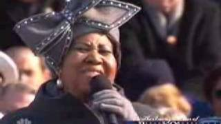 Download Barack Obama Inauguration - Aretha Franklin - Sings 'America' My Country Tis Of Thee Jan 20, 2009 Video